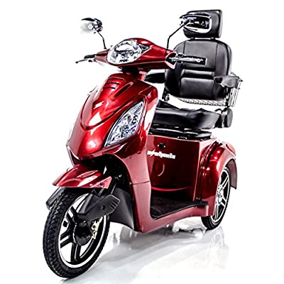 EWHEELS EW-36 Recreational Electric Scooter Red + Challenger Mobility Accessories