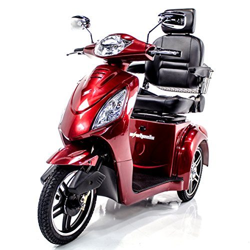 Challenger Mobility EWHEELS EW-36 Recreational Electric Mobility Scooter for Adults, Fast, Long Range, Red, Accessories Included