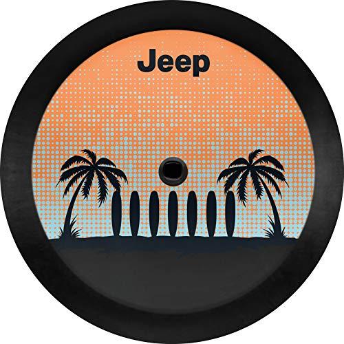 Mopar 82215431 Palm Tree Cloth Spare Tire Cover Jeep Wrangler