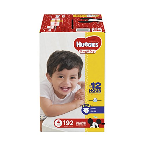 HUGGIES Snug & Dry Diapers, Size 4, 192 Count (Packaging May Vary) from HUGGIES