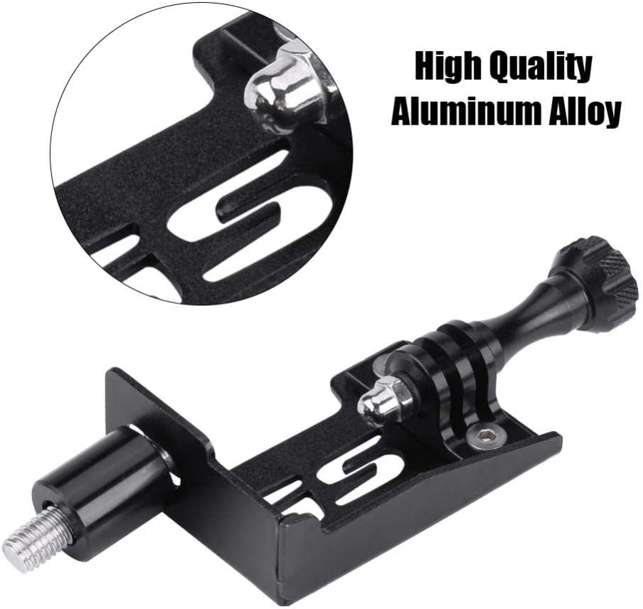 Black Aluminum Alloy Motorcycle Motion Camera Stand Bracket Holder,Keenso Motorcycle Camera Mount Bracket for BMW F650GS F700GS F800GS 2013-2017