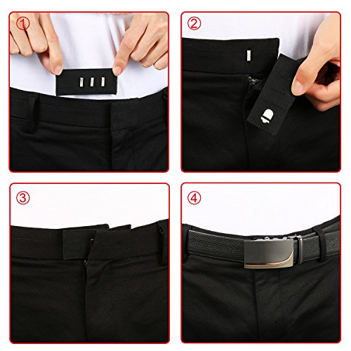 TOODOO 10 Pieces Pants Waist Extenders with Metal Hook for Pants, Jeans, Trousers and Skirt