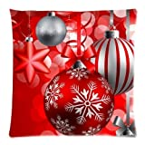Wenmei Square Decorative Throw Pillow Case Cushion Cover Throw Pillows Meryy Christmas Snowman with Red Hat 18in X 18in One Side Printed