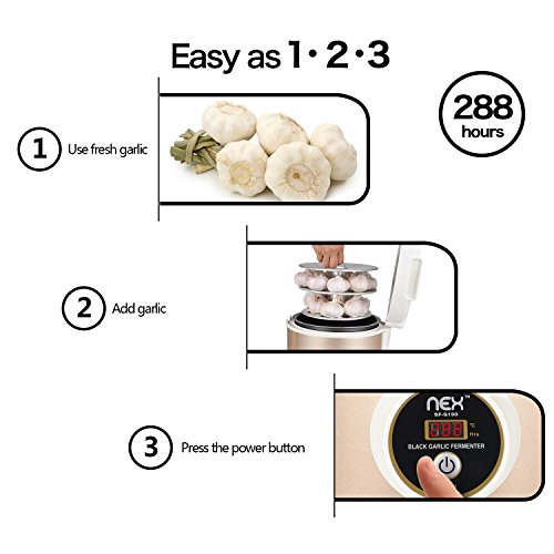 Black Garlic Fermenter, Full Automatic Intelligent Control and Ferment Single Colve Garlic Mutiple Clove Garlic DIY Black Garlic by Juns (Image #2)
