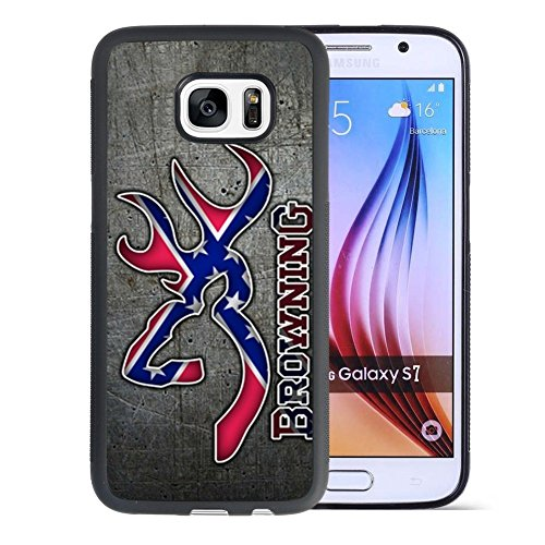 Samsung Galaxy S7 Case, YIZIMI Browning logo TPU and PC Samsung Galaxy S7 Case