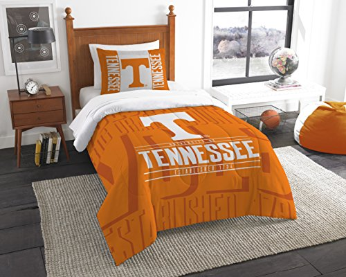 The Northwest Company Officially Licensed NCAA Tennessee Volunteers Modern Take Twin Comforter and Sham ()