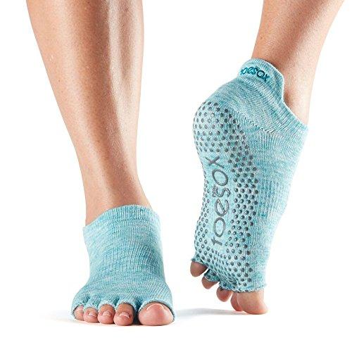 ToeSox Women's Low Rise Half Toe Grip, Beach (Balance Bare Sweet)