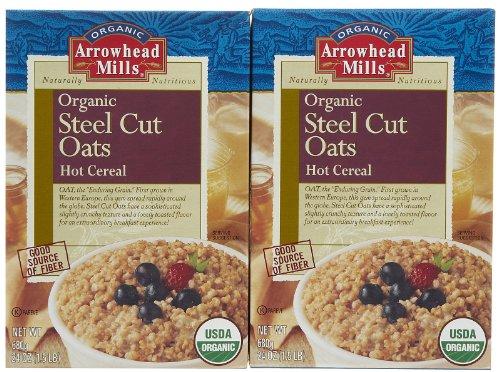 Arrowhead Mills Organic Steel Cut Oats Hot Cereal -- 24 oz Arrowhead Mills Hot Cereal