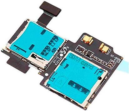 Flex Lector Tarjeta Sim Micro SD Reparacion para Samsung Galaxy S4 i9500 Cable: Amazon.es: Electrónica
