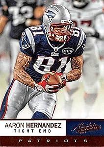 Aaron Hernandez football card (New England Patriots Super Bowl Champion) 2012 Absolute #37