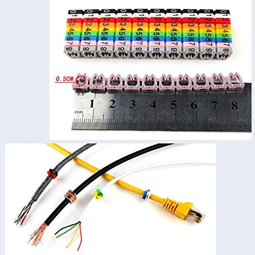 Fanclplus LAN Network Cable 100PCS Label Mark RJ45 RJ11 RJ12 Color Cable,10 pcs//bar Pack for Each Color Marker