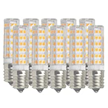 (Pack of 10) Dimmable E17 LED Appliance Bulb 40-Watt Intermediate Base Light Bulb Soft White (3000k) Replaces T5/T6/T7/T8 Halogen Bulb 120 Volt for Microwave,Ceiling fan and Under Cabinet Lighting