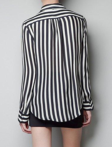 schwarz weiß gestreiftes hemd damen
