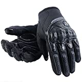 ILM Motorcycle Gloves Touchscreen Fits for Dirt Bike ATV Summer Men Women (Black, L)
