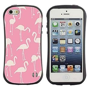 Suave TPU GEL Carcasa Funda Silicona Blando Estuche Caso de protección (para) Apple Iphone 5 / 5S / CECELL Phone case / / pink flamingo pattern white bird Florida /