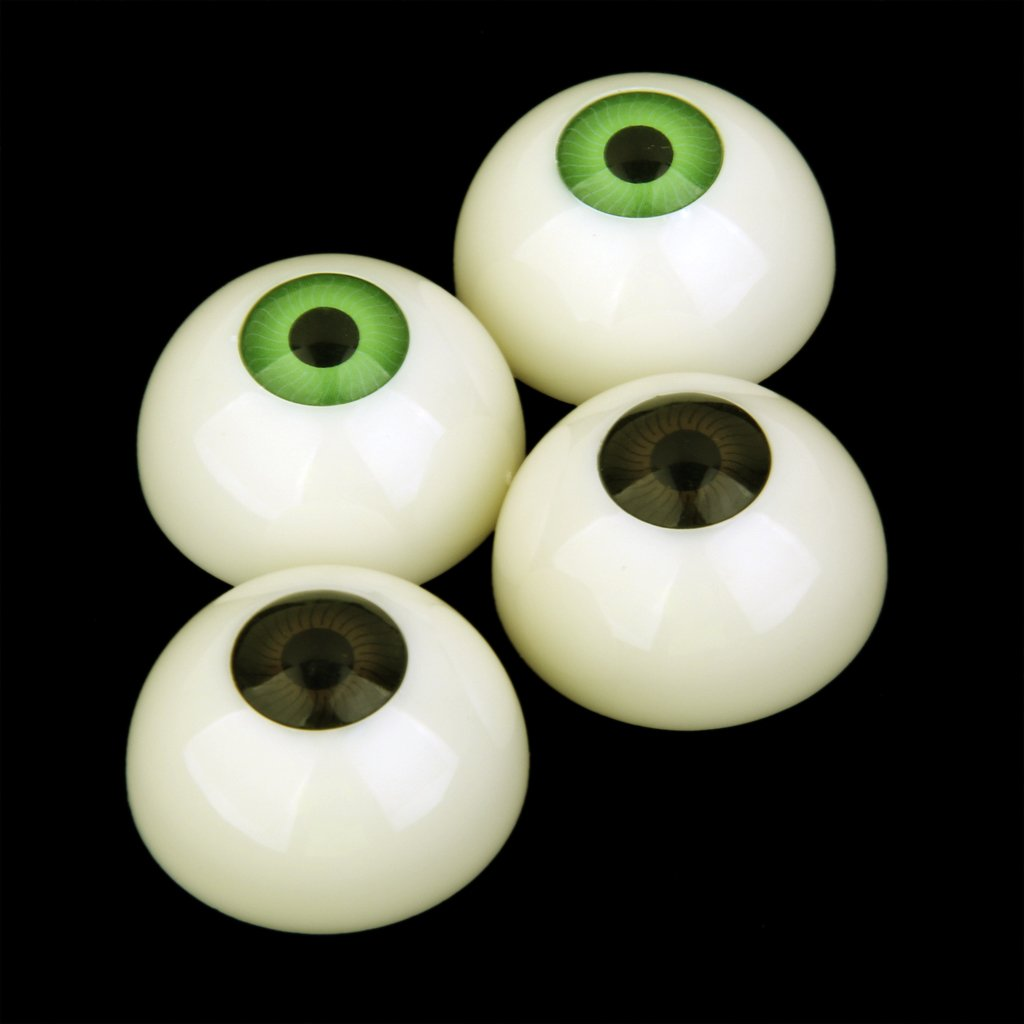 sharprepublic 4X Acrylique Plastic Eye Eyeball 30mm Doll Bear Making Halloween Prop 4