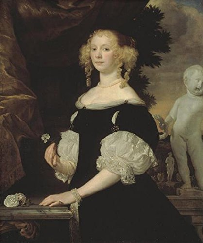 High Quality Polyster Canvas ,the High Definition Art Decorative Canvas Prints Of Oil Painting 'Portrait Of A Woman,1670 By Abraham Van Den Tempel', 18x22 Inch / 46x55 Cm Is Best For Home Office Decor And Home Gallery Art And Gifts (Tempel-definition)