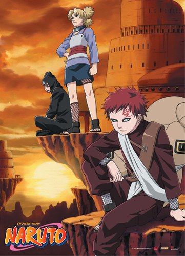 Great Eastern Entertainment Naruto Gaara and Companion Wall