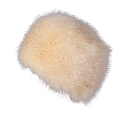 5633005794e Nacome Faux Fur Cossack Russian Style Hat for Ladies Winter Hats for Women  (Beige)