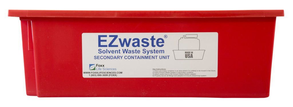 EZwaste Secondary Container Spill Basin, Safety Tray for 40L-60L (10-15 Gallon) Carboys, Bottles, and DOT Waster Containers