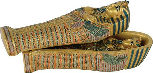 Small King Tut coffin with King Tut inside, 4.5
