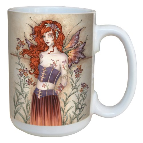 (Tree-Free Greetings lm43564 Sweet Wall Flower Fairy Ceramic Mug with Full Sized Handle by Amy Brown, 15-Ounce )
