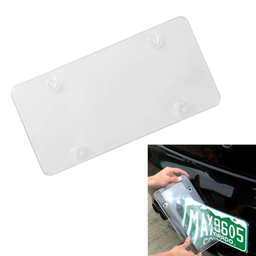Clear Smoked Tint Bubble Hood Covers Fit Any US Standard Vehicles Design Novelty Unbreakable Frame Cover for Front /& Back License Plate Clear VAUTOPARTS Car License Plate Shields Pack of 2pcs