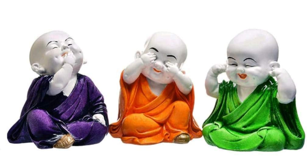 Buy V2m Baby Laughing Buddha Gift Set Of 3 Showpiece For Home Living Room Bedroom Decor Decoration Online At Low Prices In India Amazon In