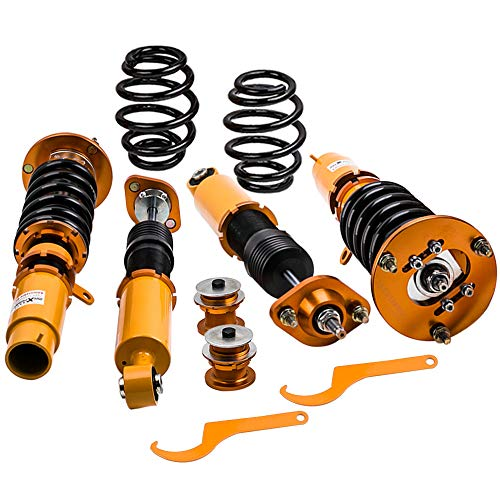 - Coilovers with Adjustable Damper for 1998-2006 BMW E46 316i, 316ci, 318i, 318ci, 320i, 320ci, 323i, 323ci, 325i, 325ci, 328i, 328ci, 330i, 330ci, M3 - Gold