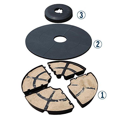 Umbrella Stand Water Filled: COBANA Offset Patio Umbrella Base Sand Filled Set Pack Of