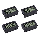 Veanic 4-pack Mini Digital Electronic Temperature Humidity Meters...