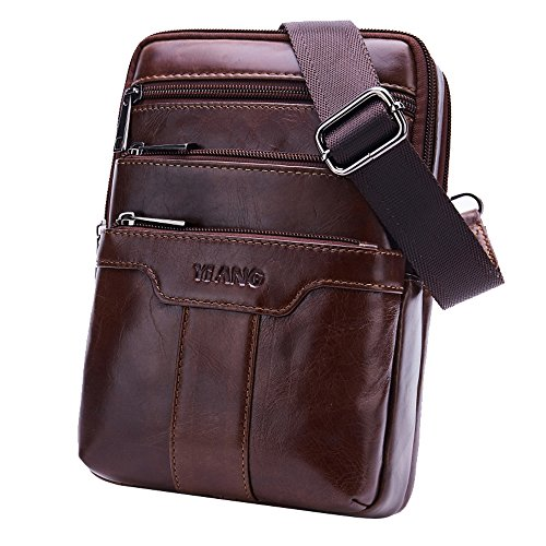 Bag 603 Leathario Body Men's Retro Brown Messenger Leather Cross qq48YnUS