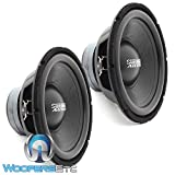 Pair of Sundown Audio LCS-12 D4 12' Dual 4-Ohm 300 Watts RMS Subwoofer
