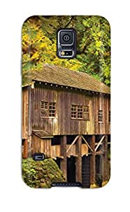 Tpu BenjaminHrez Shockproof Scratcheproof The Wooden House Hard Case Cover For Galaxy S5