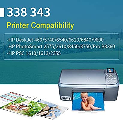 YWSS Remanufacturado Cartucho de tinta para HP 338 HP 343 HP338 ...