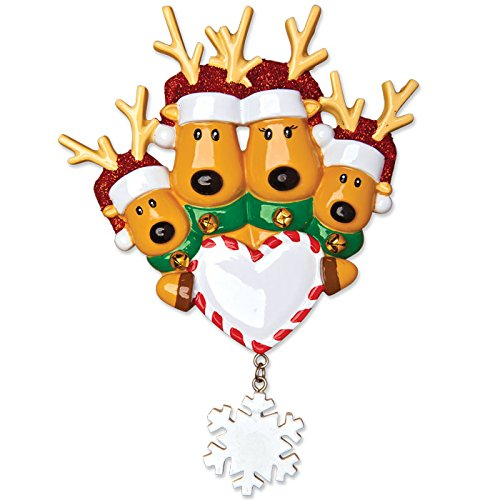 - Grantwood Technology Personalized Christmas Ornaments Family Series KIT-New Reindeer Family of 4 KIT