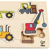 Hape - Construction Site Wooden Peg Puzzle