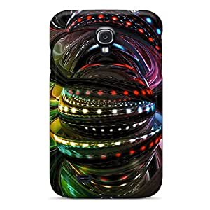 Special SilenceBeauty Skin Case Cover For Galaxy S4, Popular Circles 3d Phone Case