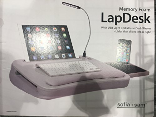 Price comparison product image Lap desk w / memory foam cushion & LED light