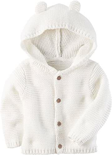Carter's Baby Textured Bear Hoodie Ivory 6 Months