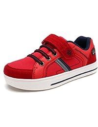 Dream pares Boy 's Casual correa Peso ligero Slip On Casual Sneakers Zapatos (Toddler/Little Kid/Big Kid)
