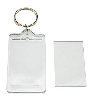 12 pcs transparente en blanco foto personalizada llavero doble cara foto. Llavero Rectangular