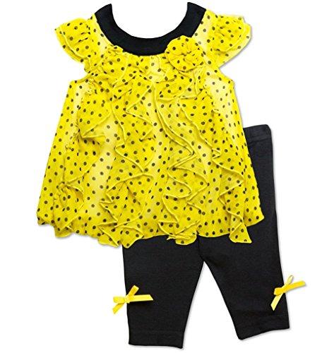 - Baby Essentials Baby Girls Dotted Cascade Top & Capri Set (3 Months)
