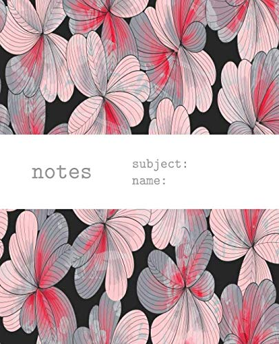 Notes: Notebook & Journal With Pink Flowers Petals Abstract Floral Womens Girls Pattern