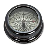 Abbott Collection 93-Explorer/197 Starburst Desk Compass, Black