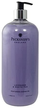 Pecksniffs Lavender White Tea Vitamin Enriched 33.8 Fl.Oz. Shower Gel From England
