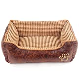 Pet Bed,Soft Dog Bed Cat Bed Vintage Bed for Small Medium Large Dogs With Detachable Washable Removable waterproof Cover|Pillow,Blanket and Bed-mat as Gift|A Prefect Christmas Gift for Your Lovely Pet