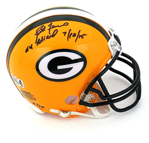 Brett Favre Helmet (Brett Favre Autographed/Signed Green Bay Packers Riddell NFL Mini Helmet with