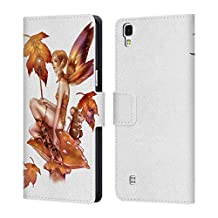 Official Renee Biertempfel Falling Leaf And Friend Fairy Leather Book Wallet Case Cover For LG G3 S / G3 Beat / G3 Vigor