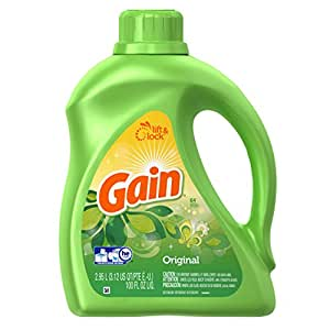 Gain HEC Original Liquid Laundry Detergent 64 Loads 100 Fluid Ounce